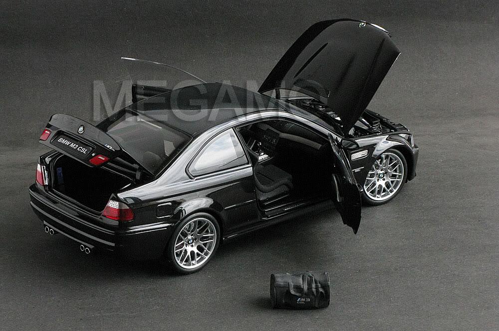 1 18 Kyosho Bmw E46 M3 Csl 2003 Black W Bag Bbs Carbon