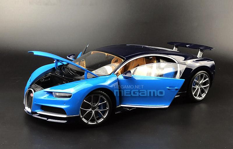 1 18 gt autos gta bugatti chiron blue diecast open. Black Bedroom Furniture Sets. Home Design Ideas