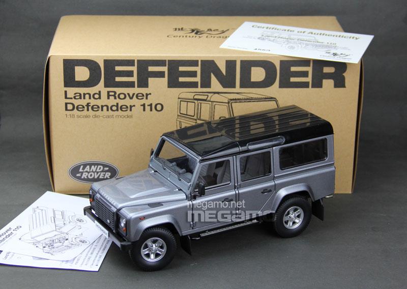 Defender 110 2018 >> 1/18 Land Rover Defender 110 5 door version Century Dragon Black, Gray, Red