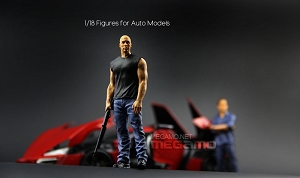 1/18 FF Fast & Furious Resin Figures Dom & Brian 2 pcs for Auto Models Autoart Kyosho Minichamps Norev BBR Free Shipping