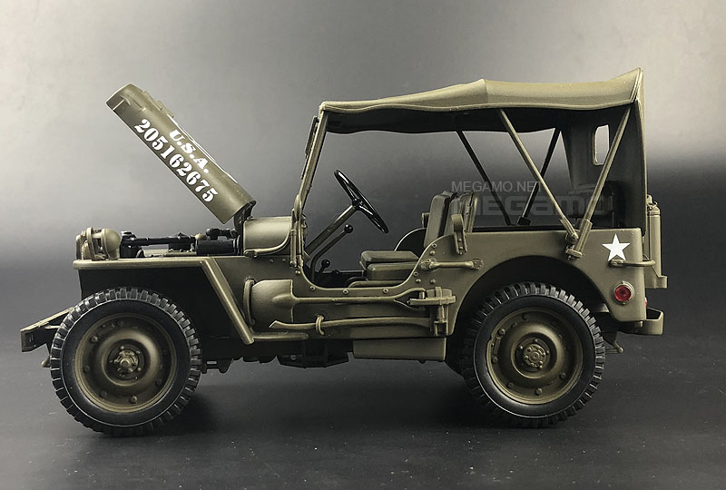1 18 1941 Jeep Willys Mb Us Army Truck Wwii Green Welly