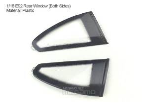1/18 Kyosho BMW M3 spare parts for e92 turning - Rear Side Glass Window Pair