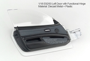 1/18 Kyosho BMW M3 spare parts for e92 e93 turning - Left Door w/ Functional Hinge