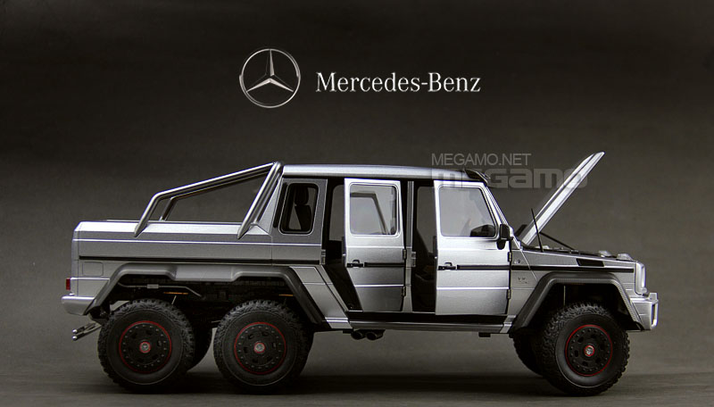 1 18 autoart mercedes benz g63 amg 6x6 silver full open 76301 for Mercedes benz amg 6x6 price