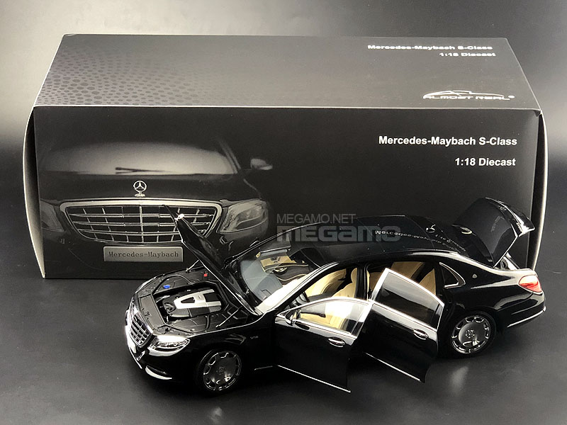 1/18 mercedes benz maybach s class s600 w222 black diecast full open