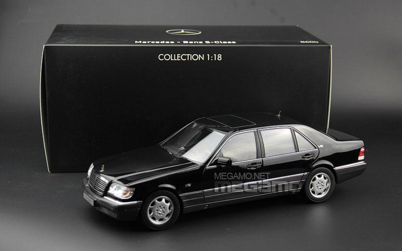 1 18 norev mercedes benz s600 w140 silver dark gray dealer edition. Black Bedroom Furniture Sets. Home Design Ideas