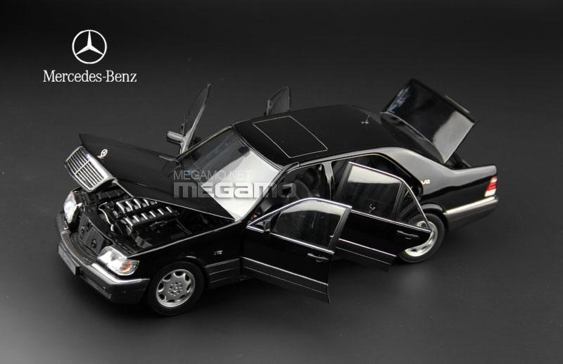 1 18 norev mercedes benz s600 w140 v12 black dark gray for Mercedes benz s600 ebay