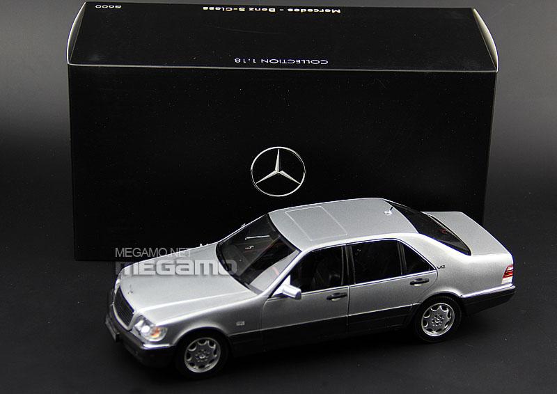 1 18 norev mercedes benz s600 w140 v12 silver dark gray for Mercedes benz s600 ebay