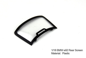 1/18 Kyosho BMW M3 spare parts for e92 Coupe turning - Rear windshield