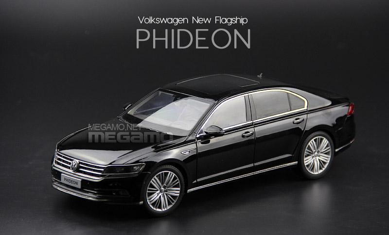 1 18 Shanghai Volkswagen Phideon 2016 Black Brown Silver Dealer Edition Diecast Model